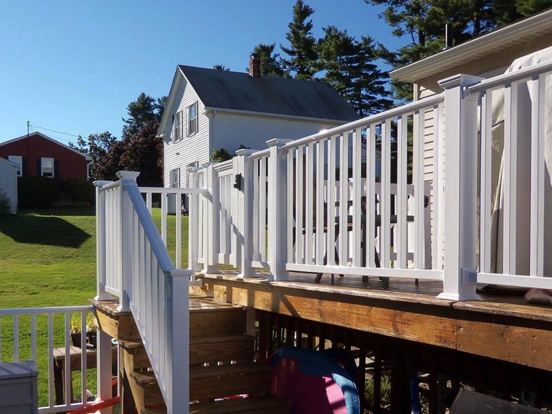 outdoor railing fence installation